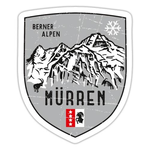 Eiger, Mönch und Jungfrau mit Mürren Flagge - Sticker