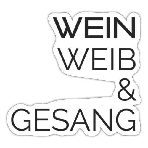 Wein, Wein & Gesang - Sticker