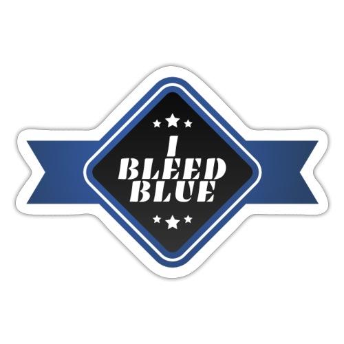 I bleed blue - Autocollant