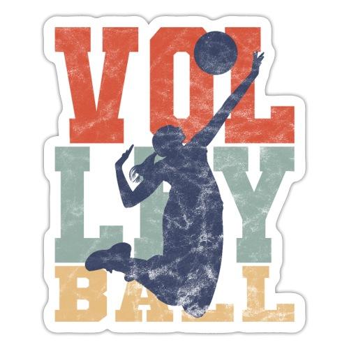 Volleyball Retro Frau Volleyballerin Geschenke - Sticker