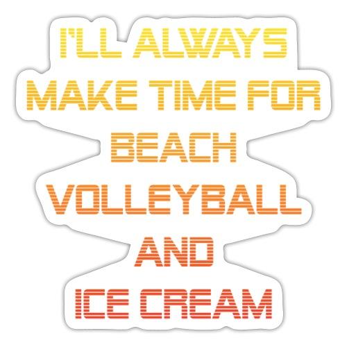 Beach Volleyball and Ice Cream - Sticker