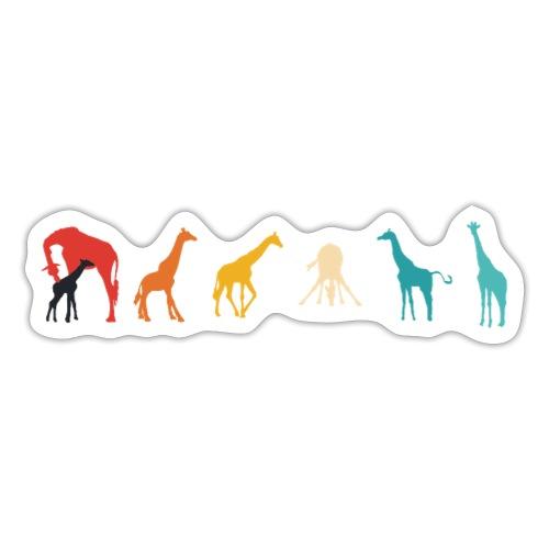 Giraffen Silhouetten Retrofarben coole Geschenke - Sticker