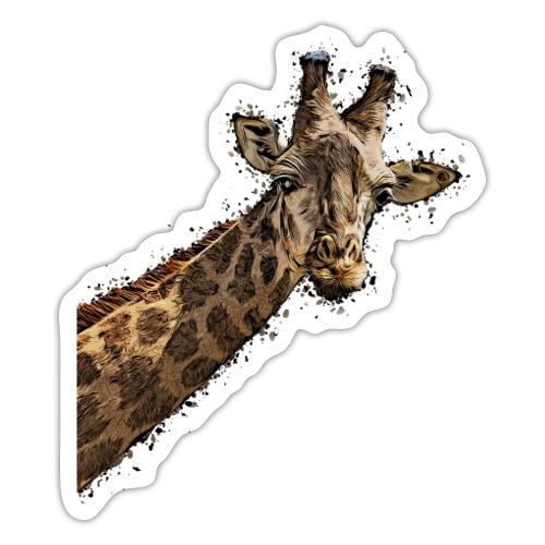 Giraffenkopf gemalter Kopf einer Giraffe - Sticker