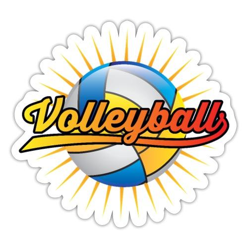 Volleyball Sonne Logo cooler Sport Geschenke - Sticker
