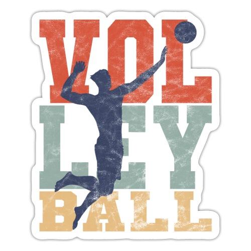 Volleyball Retro Mann Volleballer Geschenke - Sticker