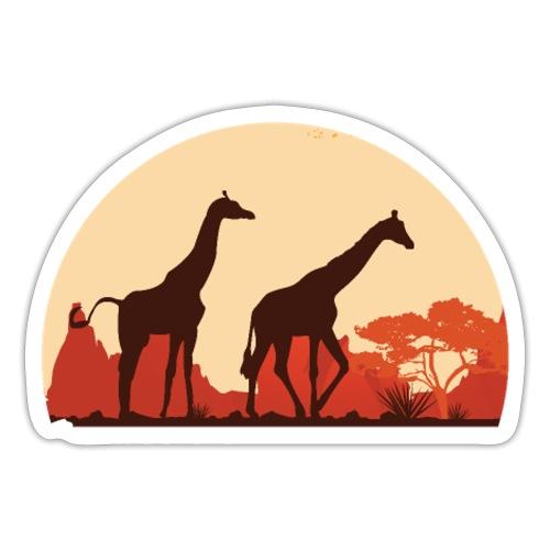Giraffen Sonnenuntergang Afrika Geschenke - Sticker
