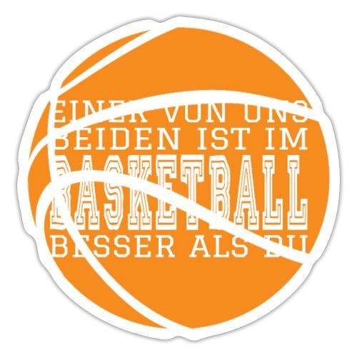Basketballspruch Geschenke Besser im Basketball - Sticker