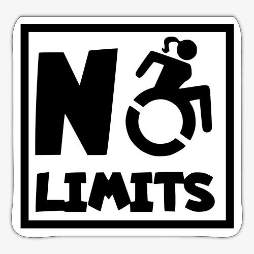 Geen grenzen voor deze dame in rolstoel - Sticker