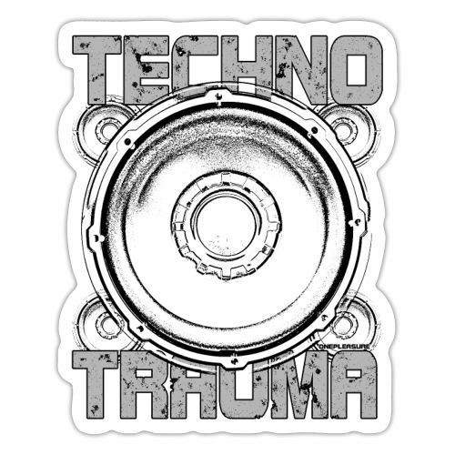 Techno Trauma Lautsprecher Boxen Geschenk Ideen - Sticker