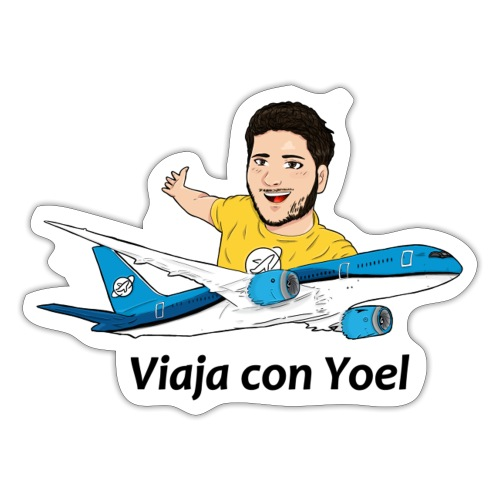 Frequent Flyer Yellow Viaja con Yoel - Pegatina