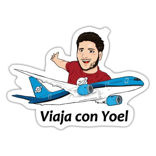 Frequent Flyer Red Viaja con Yoel - Pegatina