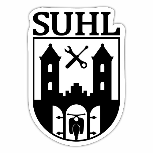 Simson Suhl coat of arms with text - Sticker