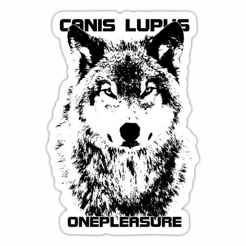 Coole Canis Lupus OnePleasure Wolf Geschenk Ideen - Sticker