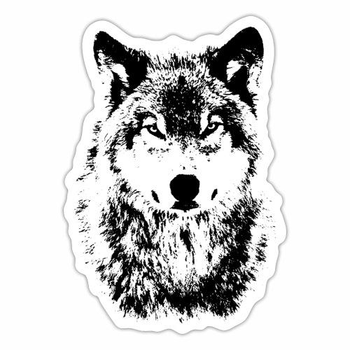 Coole OnePleasure Böser Wolf Blick Geschenk Ideen - Sticker