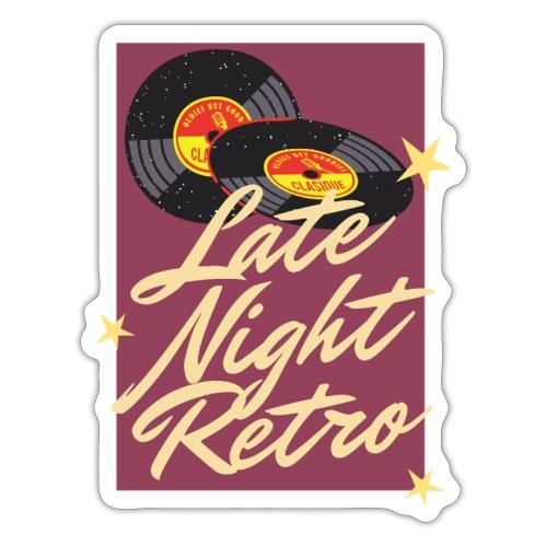 Late Night Retro, Schallplatte, Retro Look - Sticker