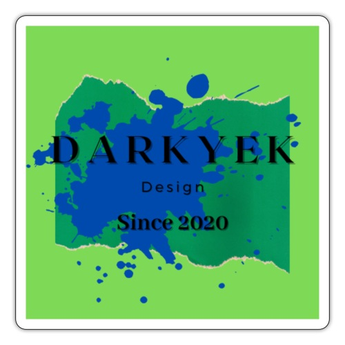 darkyek design green - Pegatina