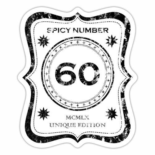 Würzige Nummer 60 - MCMLX - Einzigartige Edition - Sticker