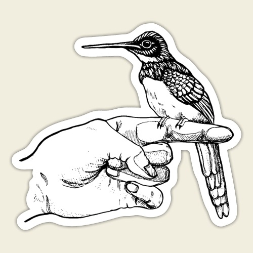 Kolibri Hand - Sticker