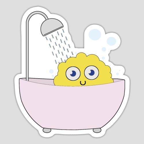 Knuffel in der Badewanne - Sticker