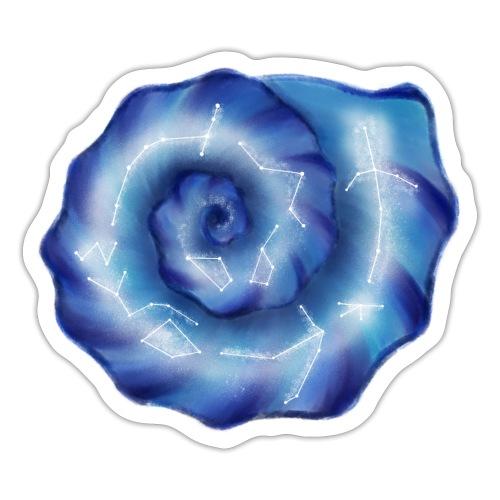 Galaktische Spiralenmuschel! - Sticker
