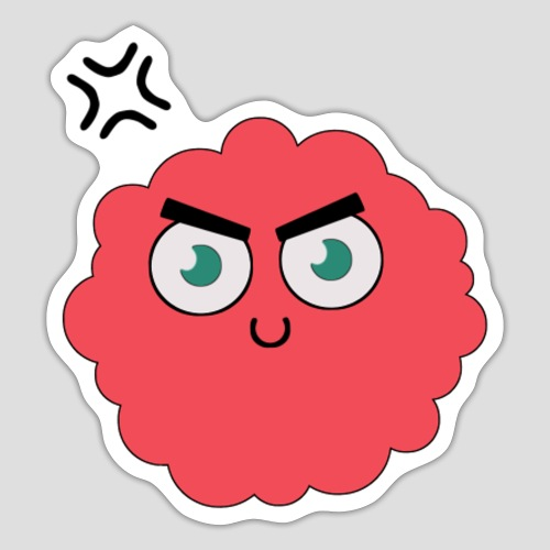 Der Rote Böse Knuffel - Sticker