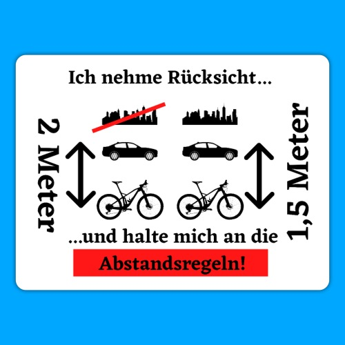 Abstandsregeln Sticker - Sticker