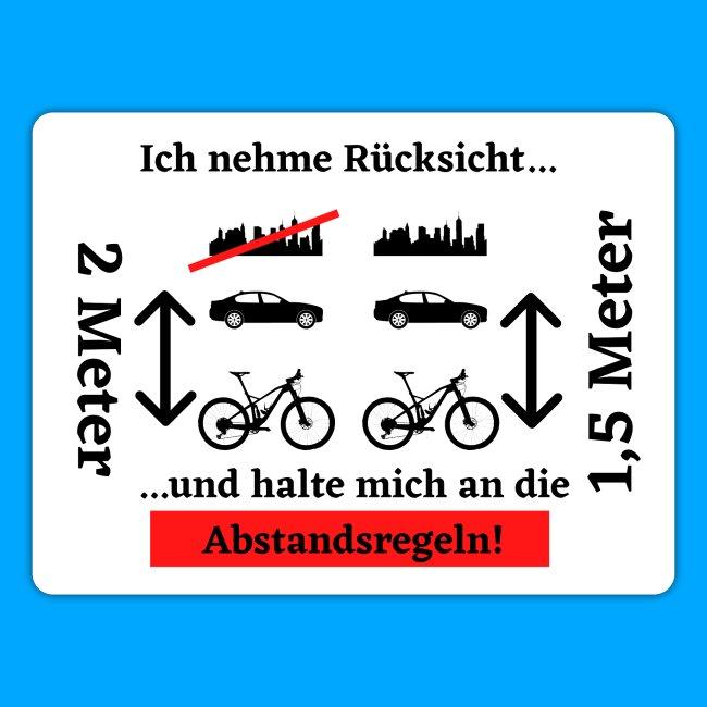 Abstandsregeln Sticker