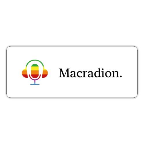 Macradion litet vit - Klistermärke