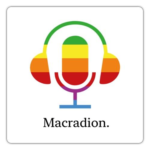 Macradion logo text på vitt - Klistermärke