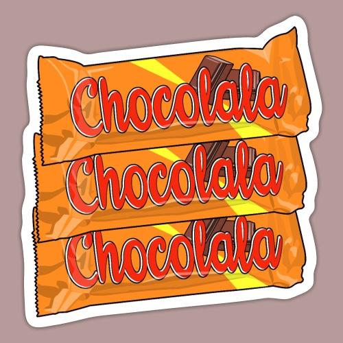 Chocolala barre chocolatée - Autocollant