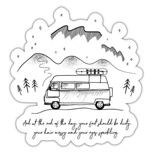 Adventure van - Sticker