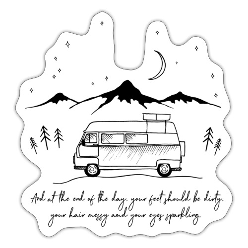 Van in the night - Sticker
