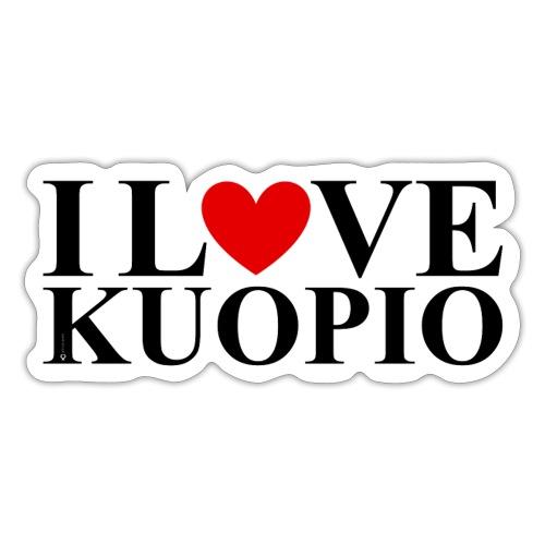 I LOVE KUOPIO (vaaka) - Tarra