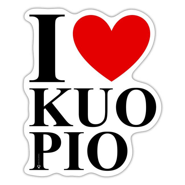 I LOVE KUOPIO ORIGINAL pystytarra