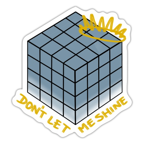 Don't Let Me Shine (blue) - Shadow - Sticker