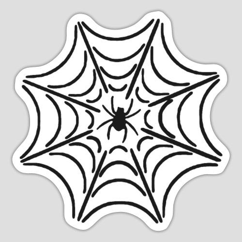 Das Schwarze Spinnennetz - Sticker