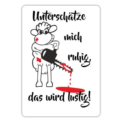 Schafe soll man nicht unterschätzen - Sticker