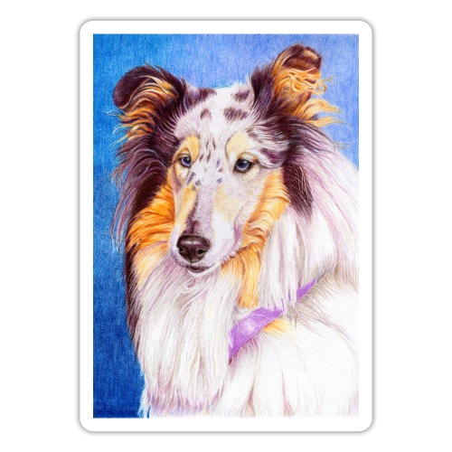 collie blueMerle sticker - Sticker