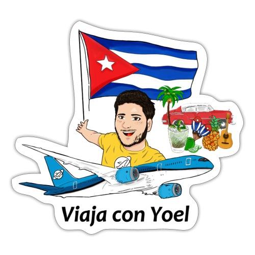 Cuba - Viaja con Yoel - Pegatina