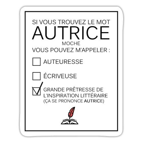 stickers autrice - Autocollant
