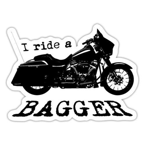 I ride a bagger - sort - Sticker