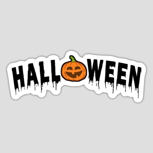 HALLOWEEN - mit Kürbis in Schwarz - Sticker