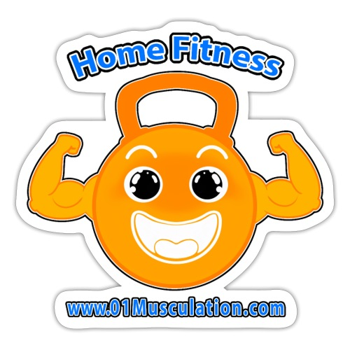 Logo 01Musculation Home Fitness Kettlebell - Autocollant
