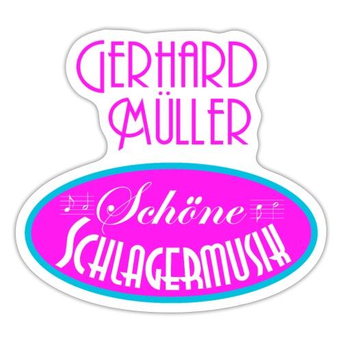Gerhard Müller – Schöne Schlagermusik-Aufschrift - Sticker