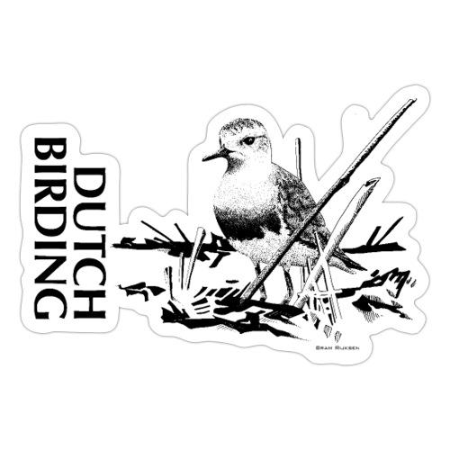 Steppeplevier - Westkapelle - Bram Rijksen - DB - Sticker