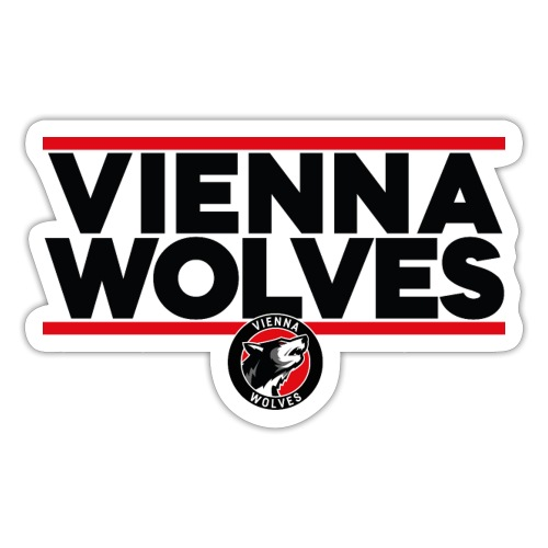Vienna Wolves Shirt Dunkel-Rot - Sticker