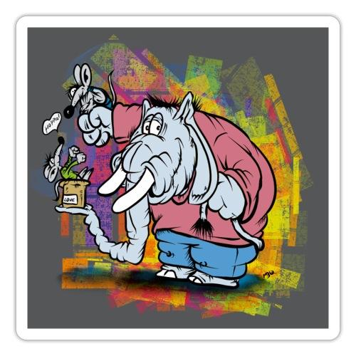 Hoppofant - Klistermärke