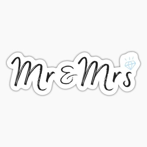 mr & mrs - Sticker