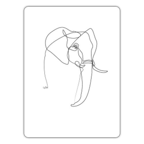 ONE LINE ELEPHANT - Sticker