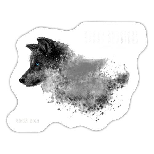 dog white - Sticker
